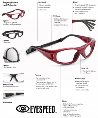 LEADER C2 Sports Protection Sportbrille